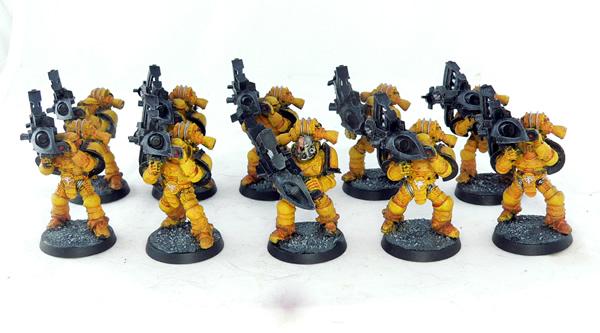 Escuadra de Apoyo Pesado Lanzamisiles Puños Imperiales