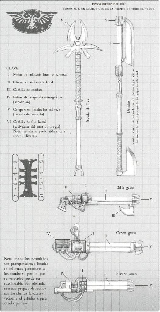 Rifle Gauss Blaster Cañon Daculus Armamento Necron Wikihammer