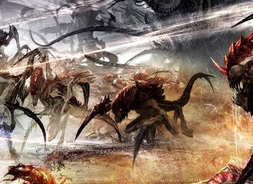 Tiranidos hormagantes flota enjambre kraken