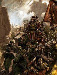 Gi comandante vostroyano en campo de batalla