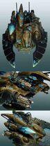 Miniatura tanque prisma del mundo astronave Luganath