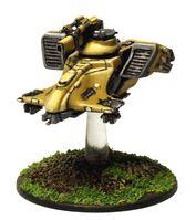 Cabezamartillo cañón iónico T'au Epic FW miniatura