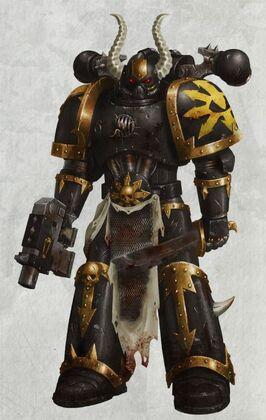 Caos marine legion negra pistola bolter