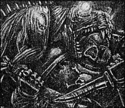 Bestia de Disformidad vs Marine Espacial Eldars Oscuros 3ª Edición ilustración
