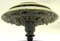 Ciudad Orbital T'au BFG Forge World miniatura