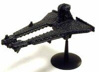Nave Comercial Demiurgo clase Bastión Imperio Tau Battlefleet Gothic miniatura