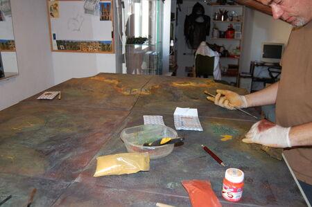 Pintura tablero modular 14