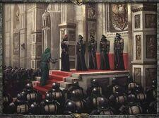 Gi korps krieg ceremonia oficial