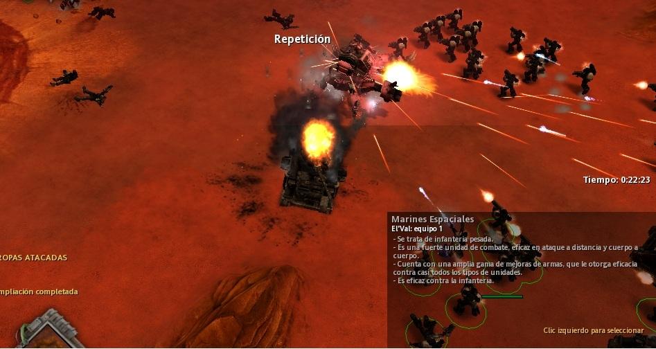 63 Pero nadie puede evitar que explote, y una nueva batalla empieza cerca de las ruinas de la base.
