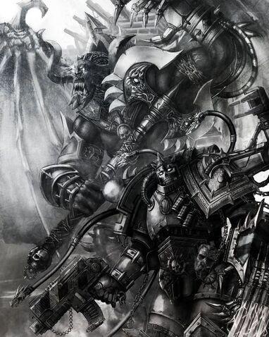 Caos guerreros de hierro barban falk y shon'tu