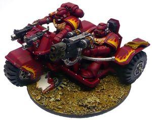 Ángeles Fuego Motocicleta