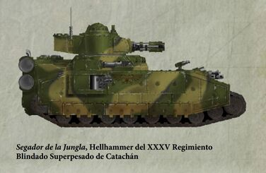 Guardia Imperial tanque superpesado hellhammer catachan0