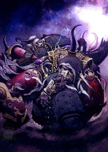 Leman Russ derrota a Magnus el Rojo Prospero