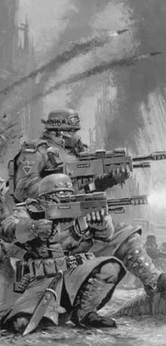 Legión de acero combatiendo