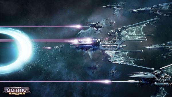 Eldar flota combate