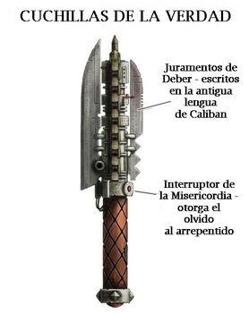 Arma cuchillas de la verdad angeles oscuros