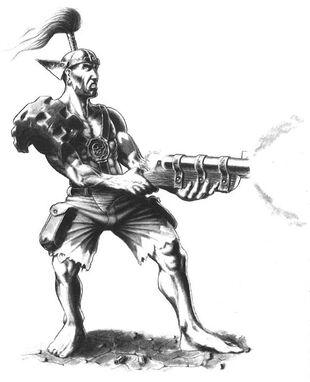 Kavador con Escopeta