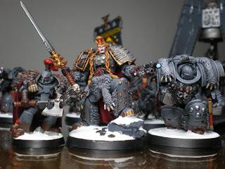 Señor Lobo Exterminador Cataphractii y Veterano Maximus Lobos Espaciales