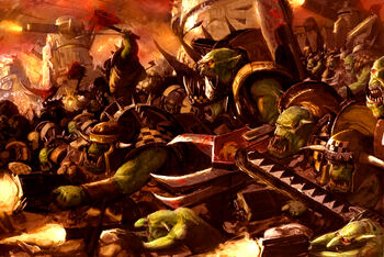 Orkoz Chicoz waaagh warhammer 40k wikihammer color