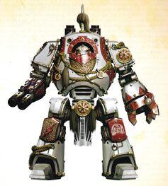 Tegusai Dreadnought Contemptor Cicatrices Blancas FW ilustración