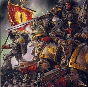Caos hijos de horus batalla