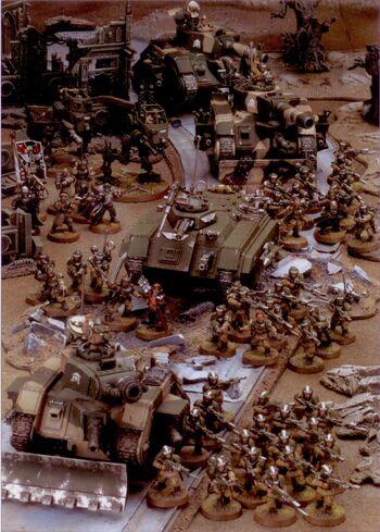 Cadia Guardia Imperial 5ª Edición diorama