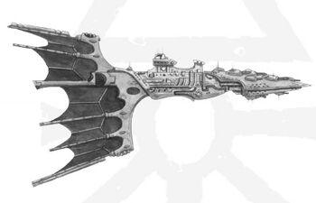 Crucero ligero clase Solaris Eldar BFG ilustración