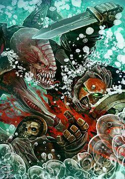 Marine deathwatch vs genestealer