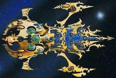 Mundo Astronave Iyanden antiguo