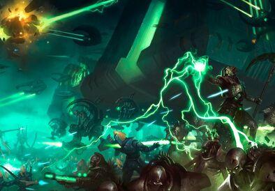 Necrones vs eldars alaitoc planeta carnac