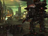 Captura de pantalla de Freeblade - Parte trasera del Desarraigado en detalle