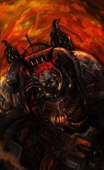 Guerreros de hierro marine del caos 6