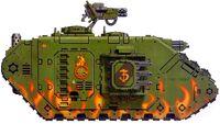 Land Raider Cruzado Salamandras FW ilustración