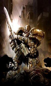Caos guerreros de hierro leal espada energia