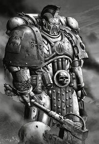 Khârn el Sangriento Capitán Palafrenero Devoradores de Mundos Gran Cruzada