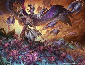 Caos hordas de demonios de tzeentch