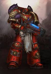 Ángel Sangriento Veterano de las Guerras Tiranidas
