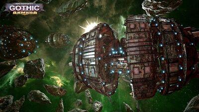 Esfera de Guerra Kroot Battlefleet Gothic Armada ilustración