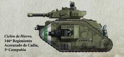 Guardia Imperial tanque leman russ exterminator cadia