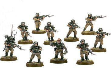 Escuadra tropas de choque cadia