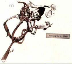 Lupa de sondeo Demiurgo Xenology ilustración