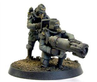 Mortero con proyectil Mole (tuneladora mini con bomba)