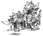 Mekániko diseñando Akribillador Molón