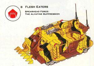 Rhino Devoradores de Carne Carnívoros 1ª Edición ilustración