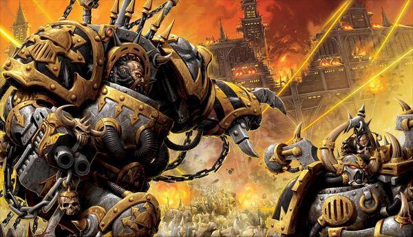 Caos guerreros de hierro combate