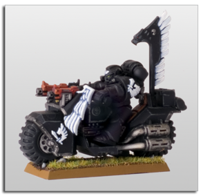 Motocicleta Ala del Cuervo Ángeles Oscuros Warhammer 40k Wikihammer