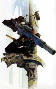 Asesino Vindicare Rifle Exitus