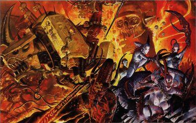 Demonios Caos Chaos Khorne Slaanesh Chaos Warhammer 40k Wikihammer