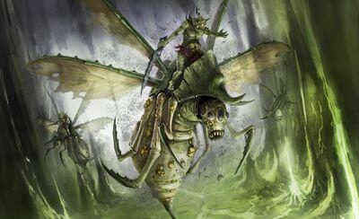 Caos demonio nurgle zanganos 8 edicion