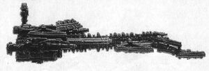 Crucero de Batalla Fra'al perfil BFG miniatura